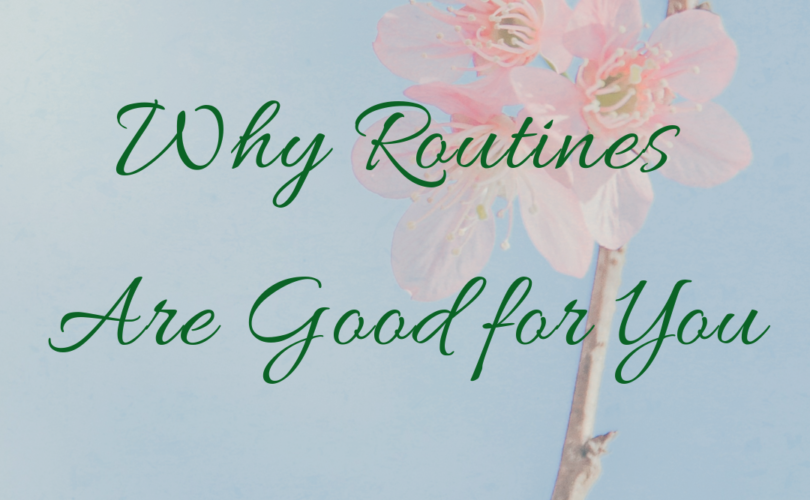 Why Routines Are Good for You